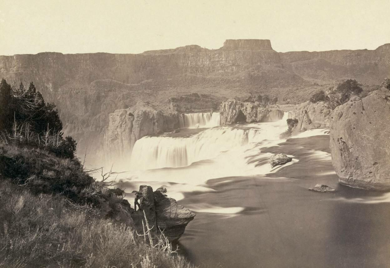 1868.Водопады Шошонов в Айдахо