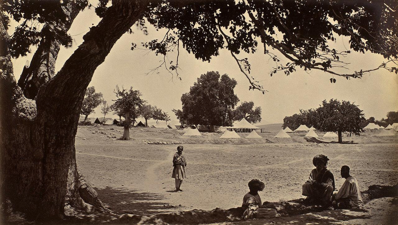 Лагерь Эмира Мухаммада Якуб-хана рядом с Гандамаком