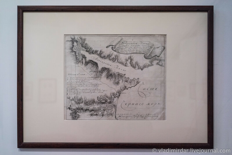 План Ахтиярской гавани с указанием древних городов Архтиара и Херсонеса.