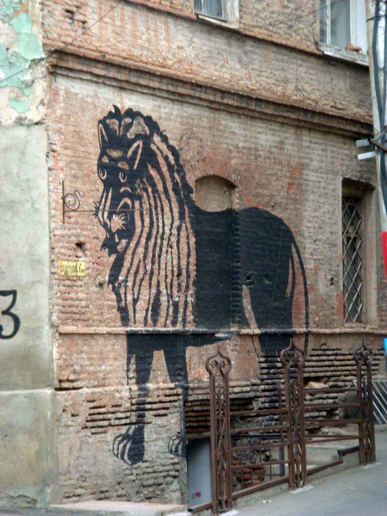 Закаблуцкая Елена, граффити в духе Пиросмани