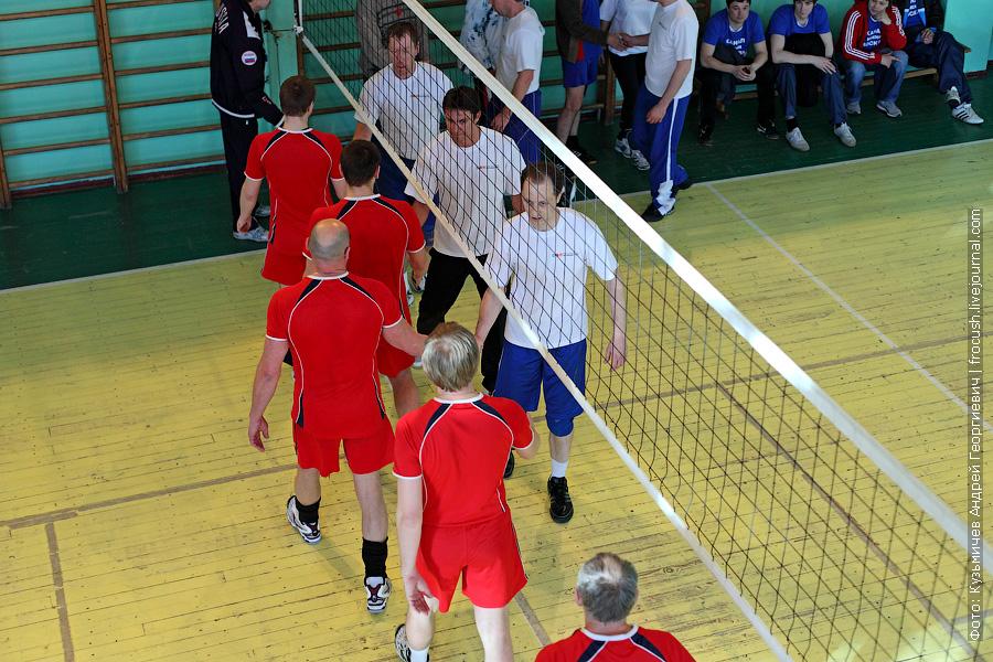 Команды по волейболу «Порт Коломна» и «Яхтенный порт» на спартакиаде речников