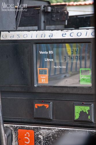 заправка машины в венесуэле, цена на бензин
