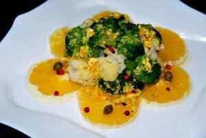Капустный салат с заправкой и каперсами