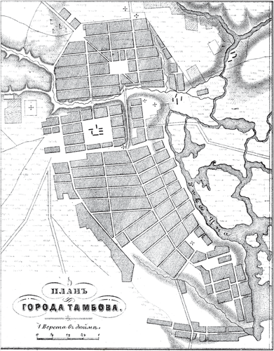Генплан города Тамбова на 1876 год