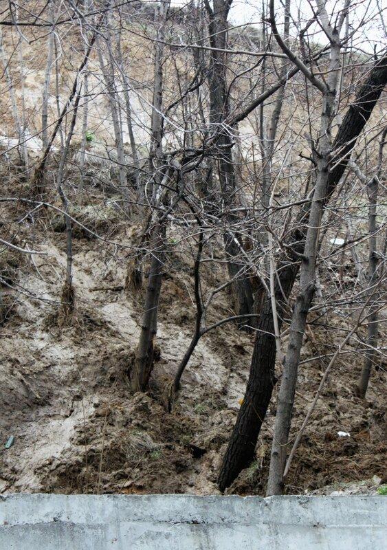 Подвижка грунта на Фроловской горе