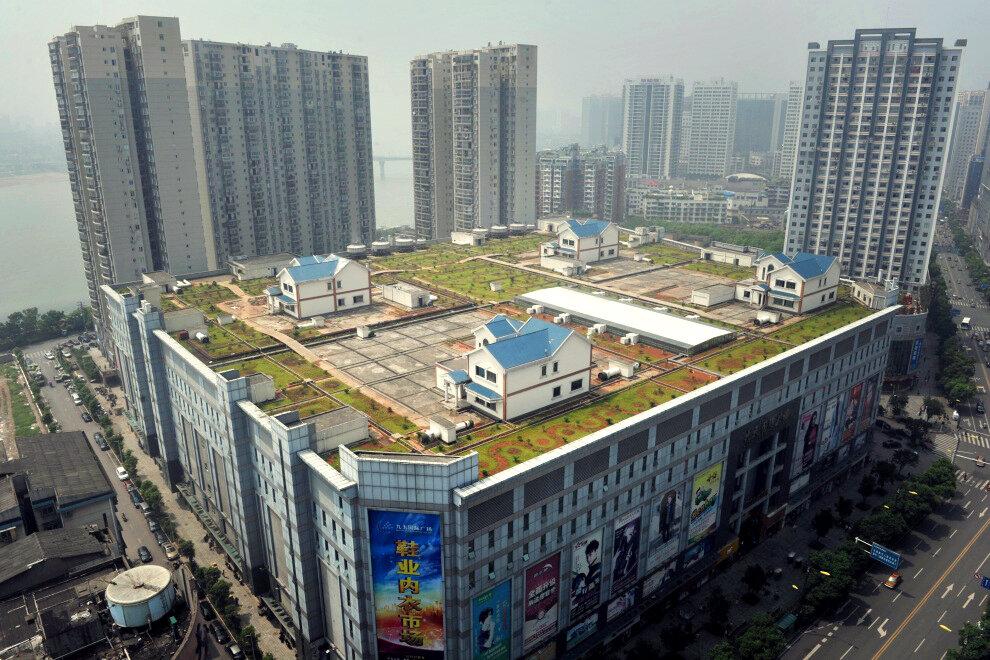 Сельский ландшафт в центре Чжучжоу