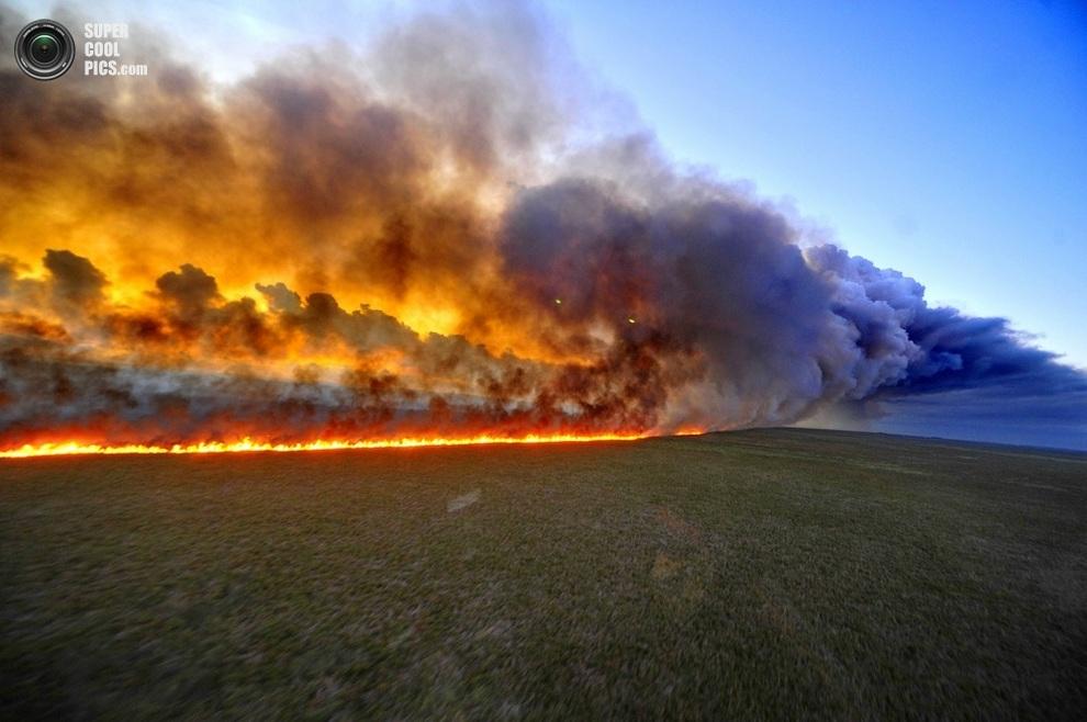 Лесной пожар на юге Бразилии