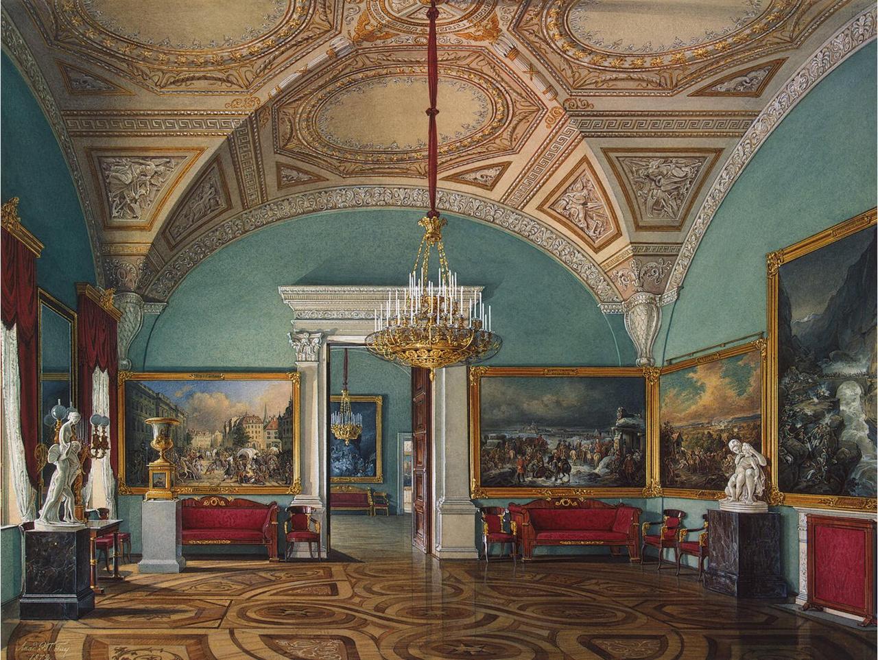 Интерьеры Зимнего дворца. Второй зал Военной галереи