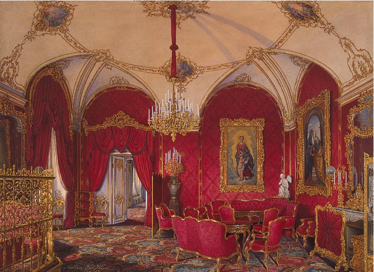 Интерьеры Зимнего дворца.  Угловая комната