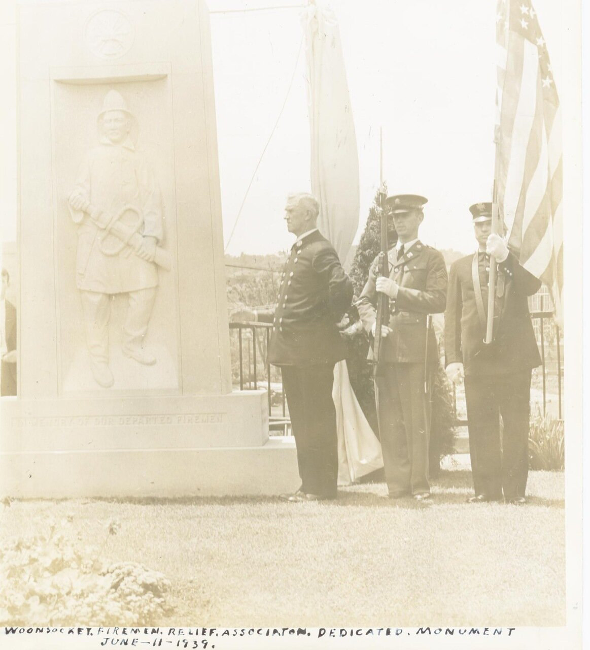 Монумент павшим пожарным.1939 г.