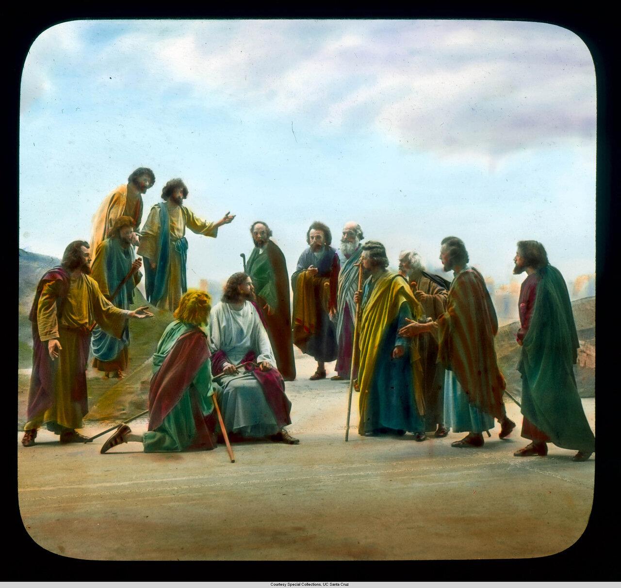 Обераммергау. Страсти Христовы. Иисус с учениками на Масличной горе