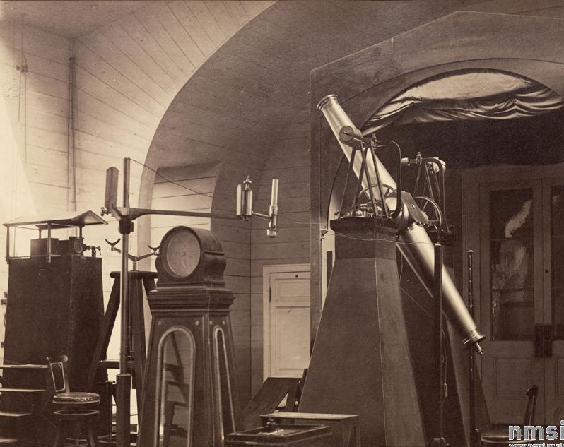 Вертикальный круг Эртеля в Пулковской обсерватории, 1876 г.