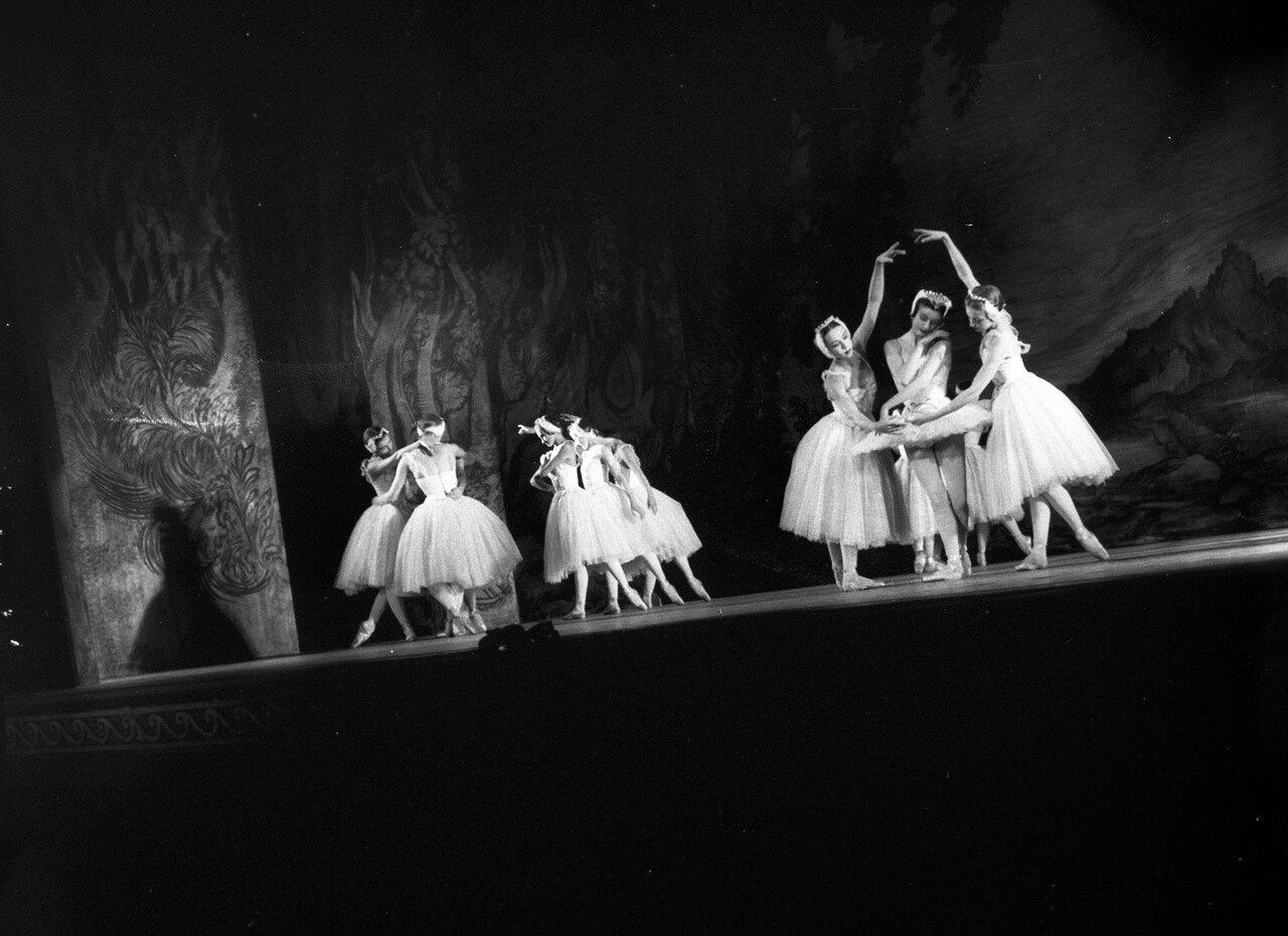 Королевский театр Ковент-Гарден показывает  «Лебединое озеро» в Сиднее, 10 сентября 1958