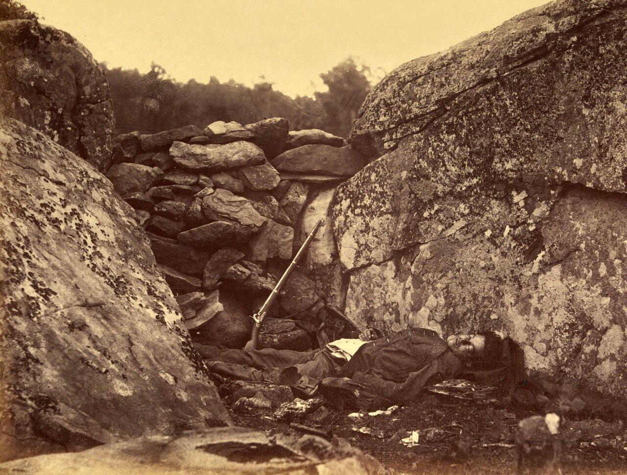 Последняя обитель снайпера, битва при Геттисберге. Пенсильвания. Июль 1863 г.
