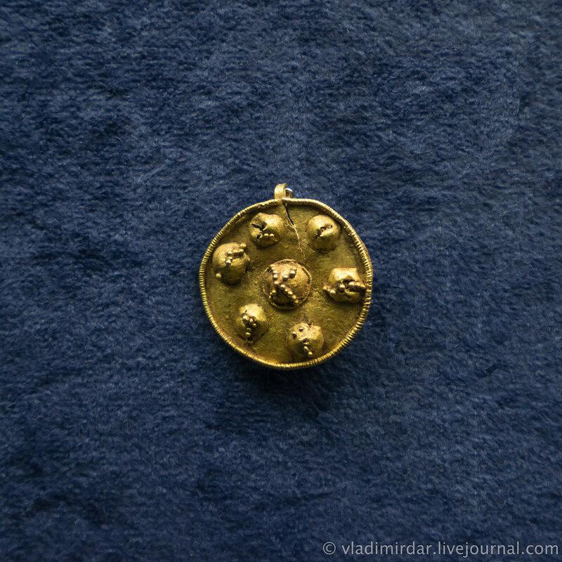 Фибула. Золото. Вторая половина II – начало I в. l в. до н.э.