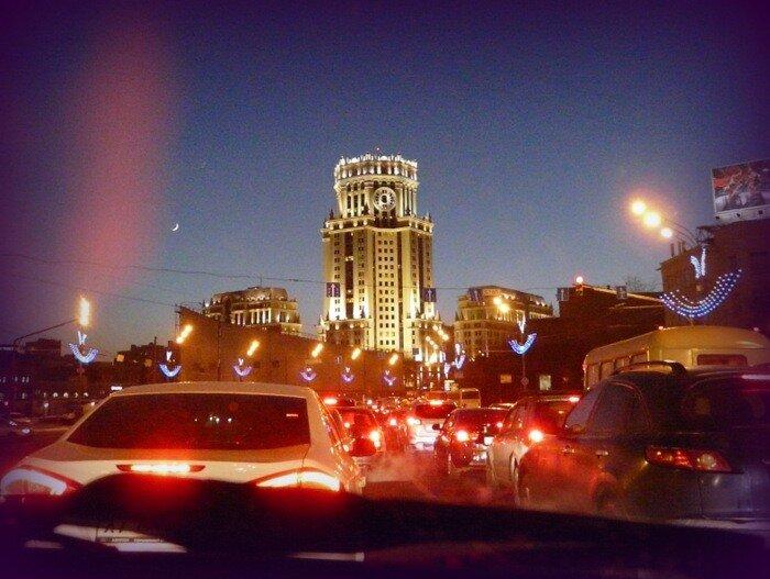Предновогодняя Москва.
