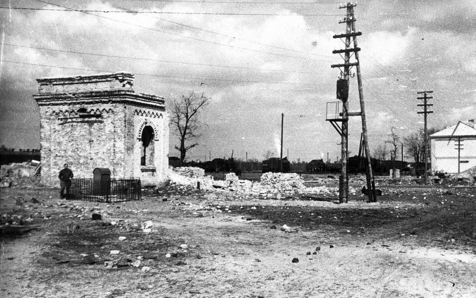 """1945.04. Все, что осталось от станции """"Дарница"""""""