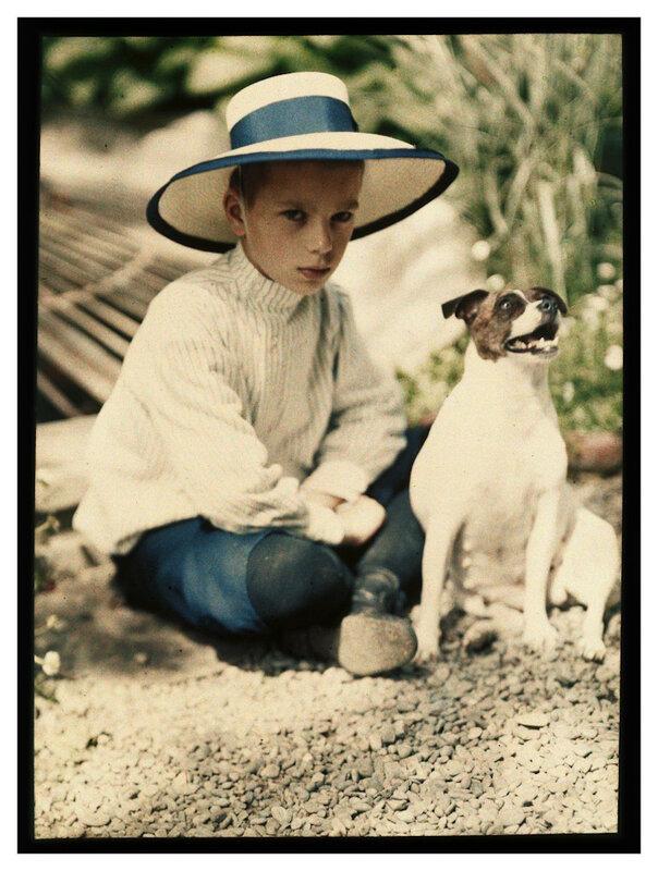 Piotr Vedenisov Kolya Kozakov and the Dog Gipsy. Yalta. 1910-1911