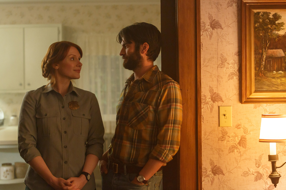 Bryce Dallas Howard is Grace and Wes Bentley is Jack in Disney's PETE'S DRAGON, the adventure of a boy named Pete and his best friend Elliot who just happens to be a dragon.