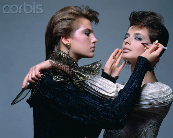 Terry Farrell Applies Isabella Rossellini's Makeup