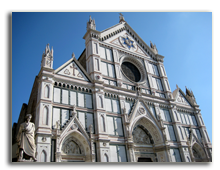 Италия. Флоренция. Famous church of Santa Croce in Florence (Italy). Фото franxyz - Depositphotos