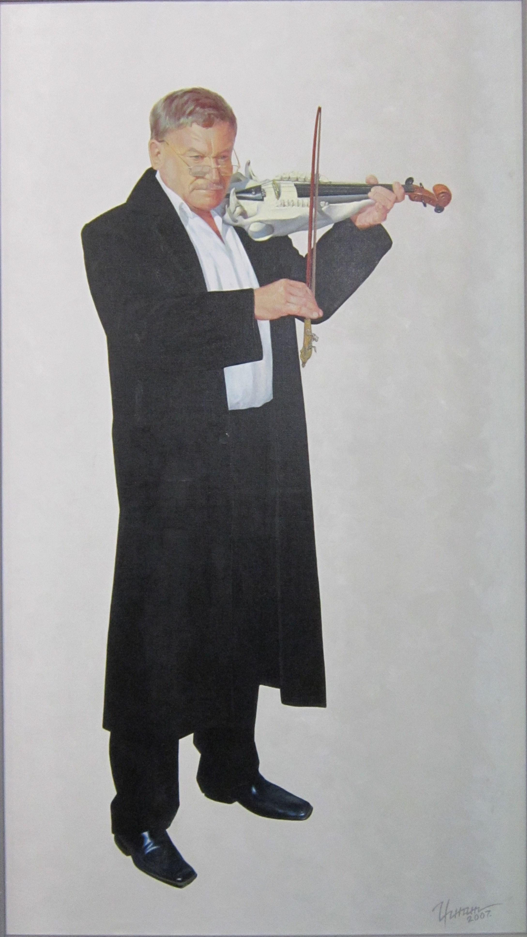 """Олег Валентинович Игнатов (1964 г.р.). """"Начало. Народный артист России Н. Сорокин"""". 2007 год."""