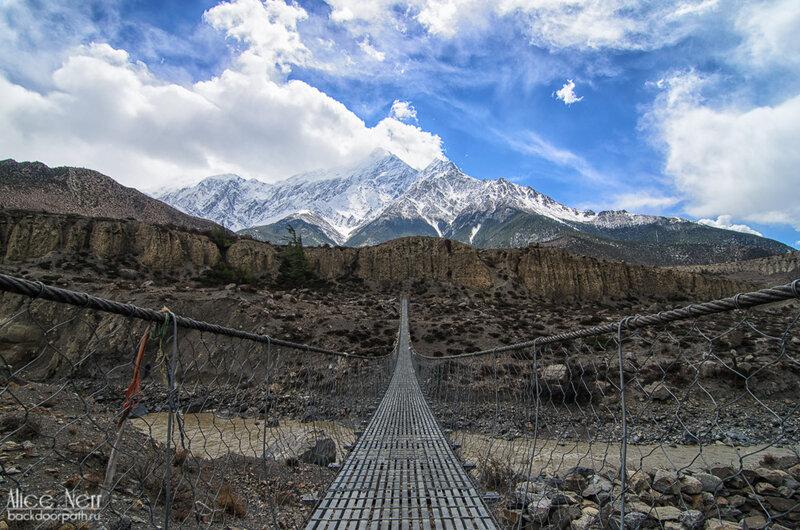 подвесной мост, Гималаи, Непал