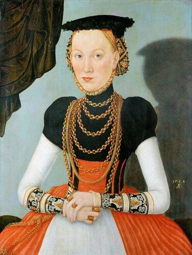 узей истории искусств: Лукас Кранах II - Портрет знатной дамы