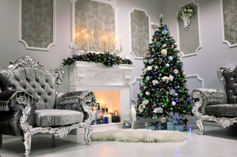 Новогодние интерьеры, самые красивые елочки и потрясающие игрушки! Фотостудия Аристократ