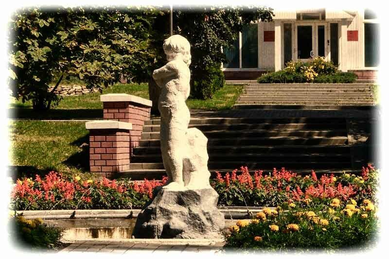 Белгородский фонтан ДЕВОЧКА С ГУСЕМ