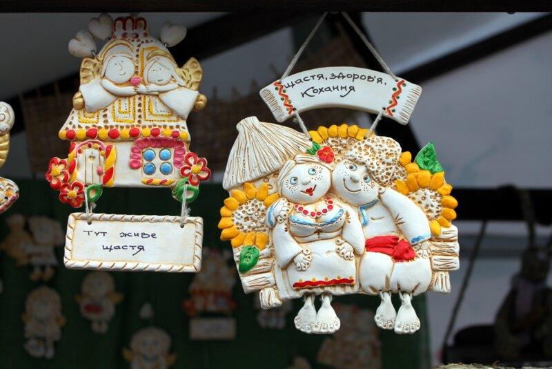 Новогодние сувениры на Крещатике