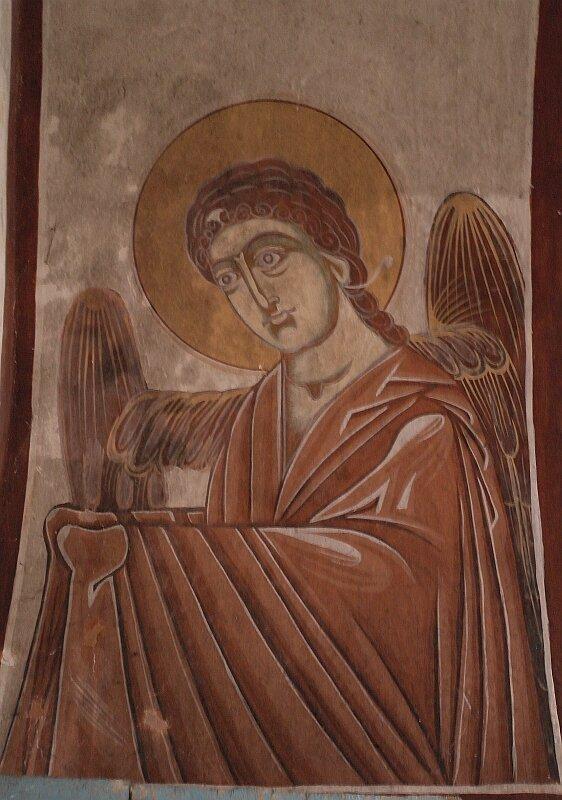 Ангел. Фреска на стене собора в Гелати