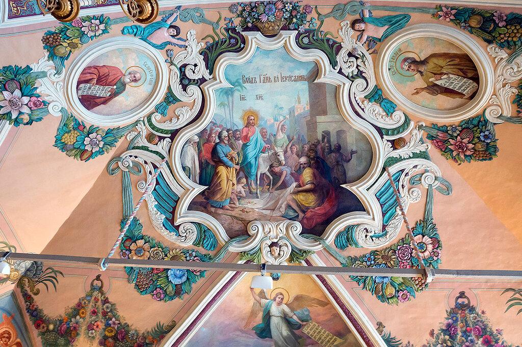 Роспись на потолке Трапезных палат Троице-Сергиевой лавры