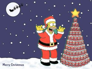 �������� ���������� �������� (Simpsons christmas pictures)