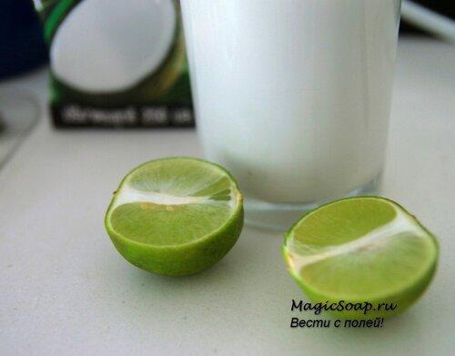 маска для волос с кокосовым молочком и соком лимона