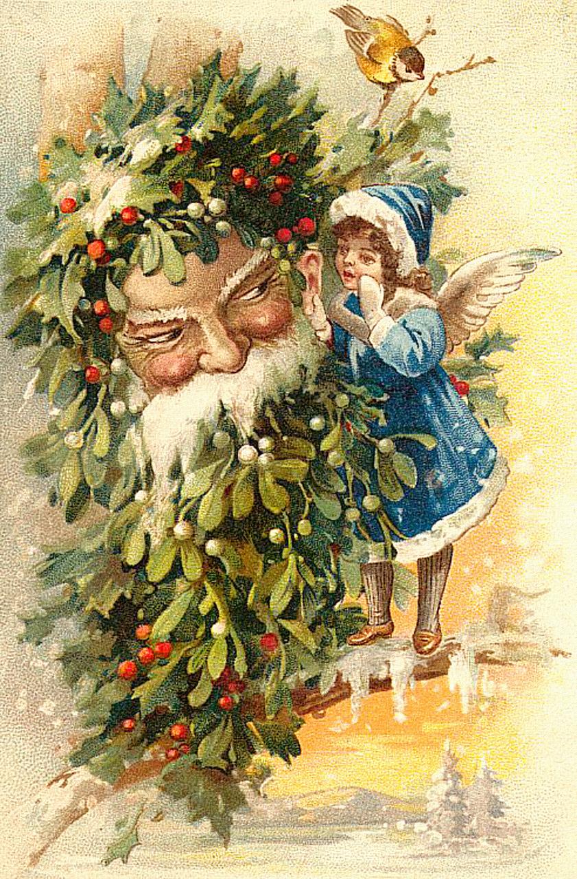 Рождественская открытка винтаж