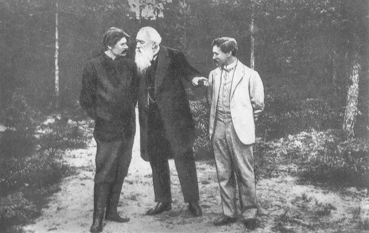 Горький Стасов и Репин в Куоккале, 1900-е гг.
