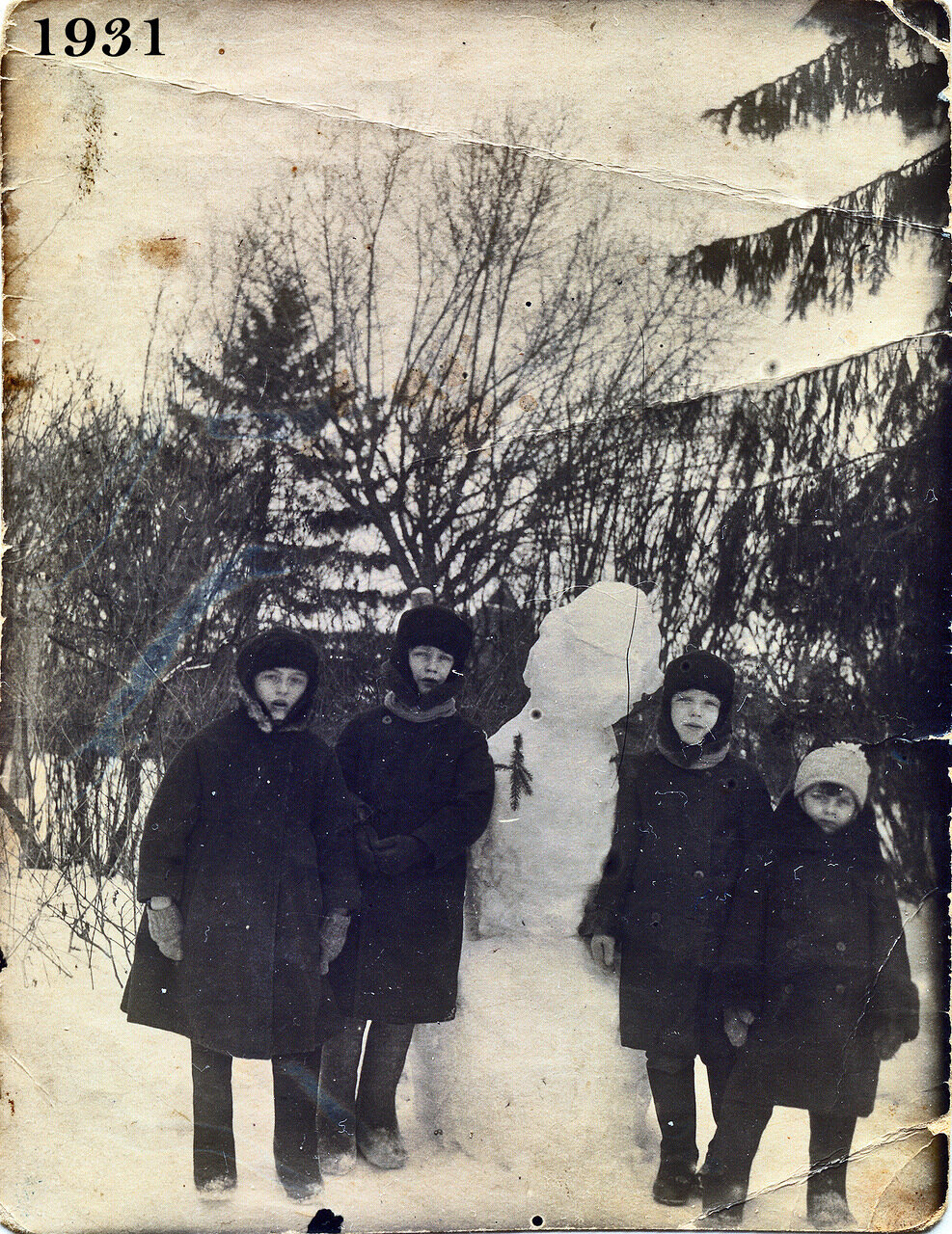1.Снеговик 1931 года.