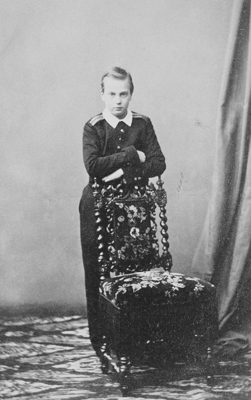Великий князь Алексей Александрович, четвёртый сын императора Александра II и императрицы Марии Александровны, 1861 г.