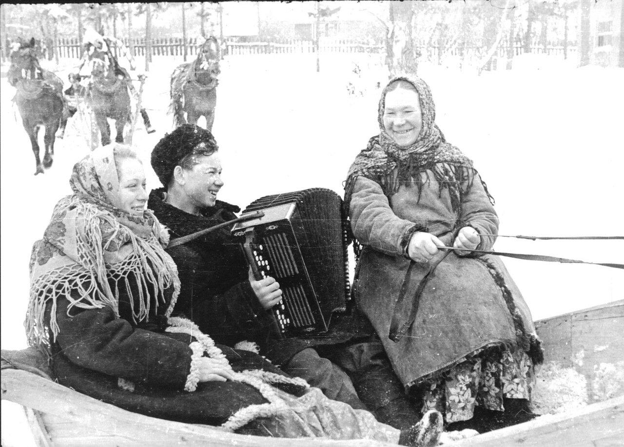 Масленица. 60-е годы прошлого века.