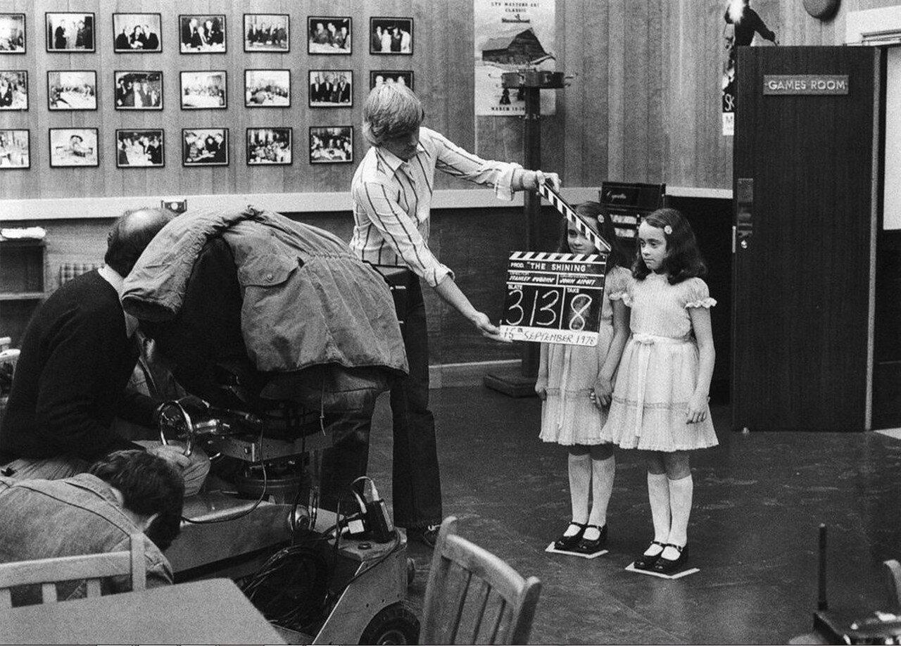 1980. Рабочий момент на съемках «Сияние»