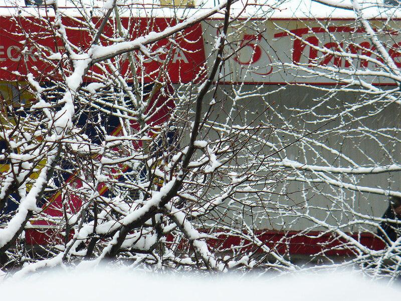 Снег, Москва начало декабря 2012
