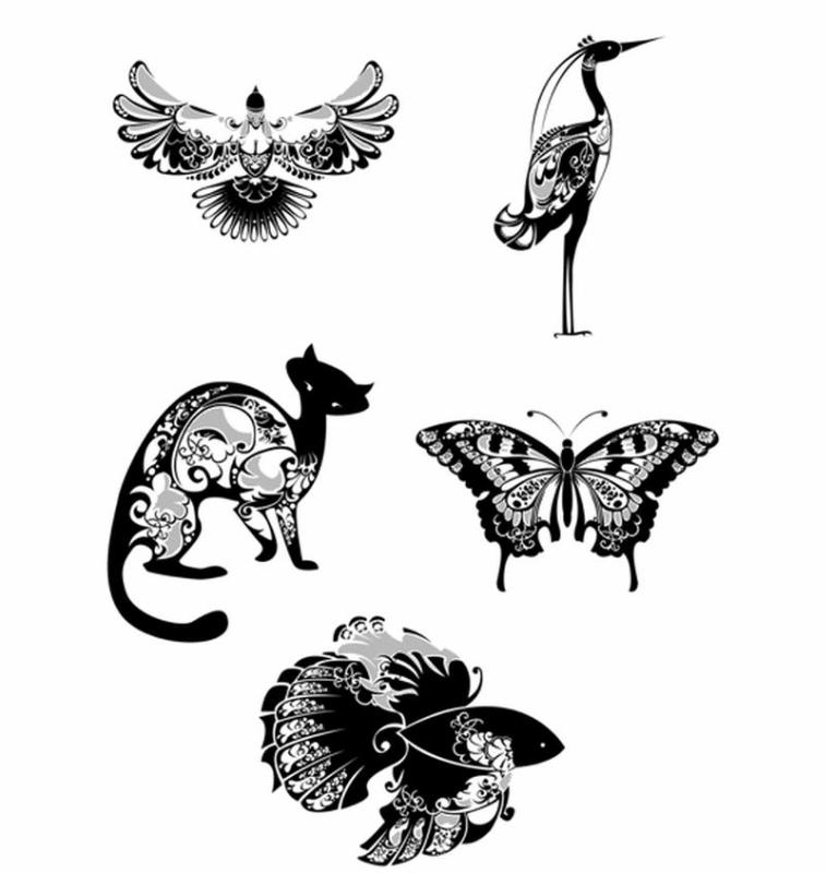 Векторные пиктограммы Натальи Склобовской (животные)