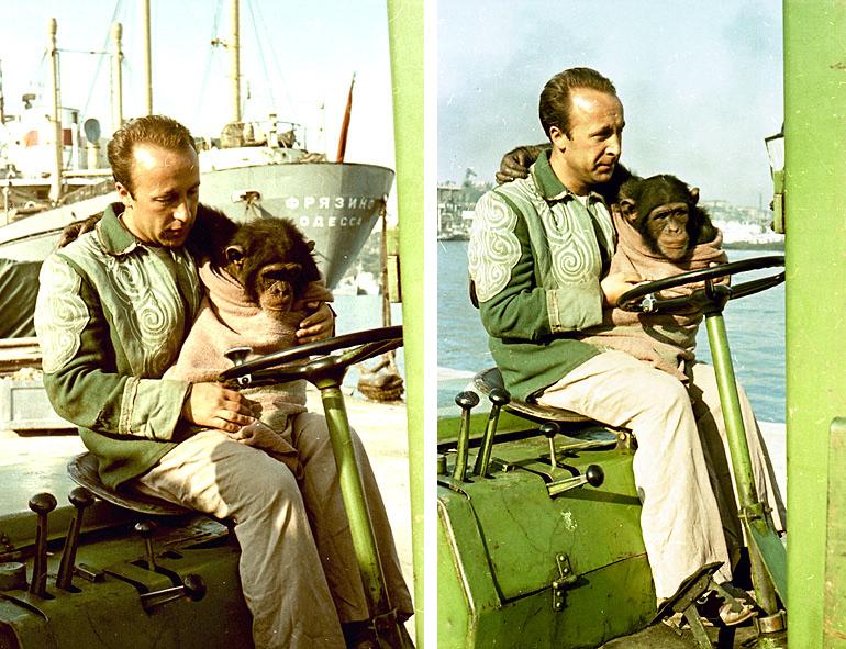 Павел Бабич учит Пирата водить.