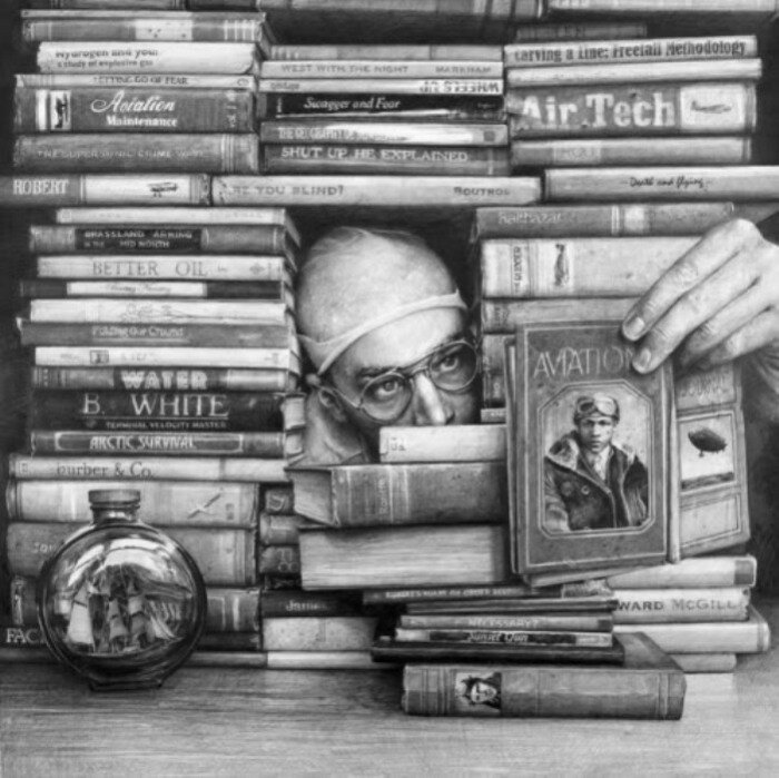 Книжный домик. Монохромные работы Итана Мурроу (Ethan Murrow).
