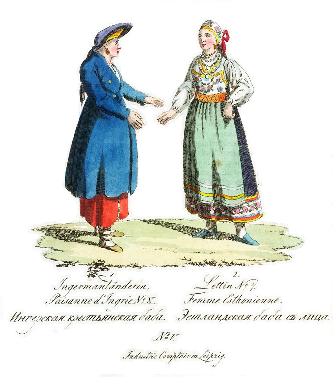 5. Ингерская крестьянская баба. Эстландская баба с лица.