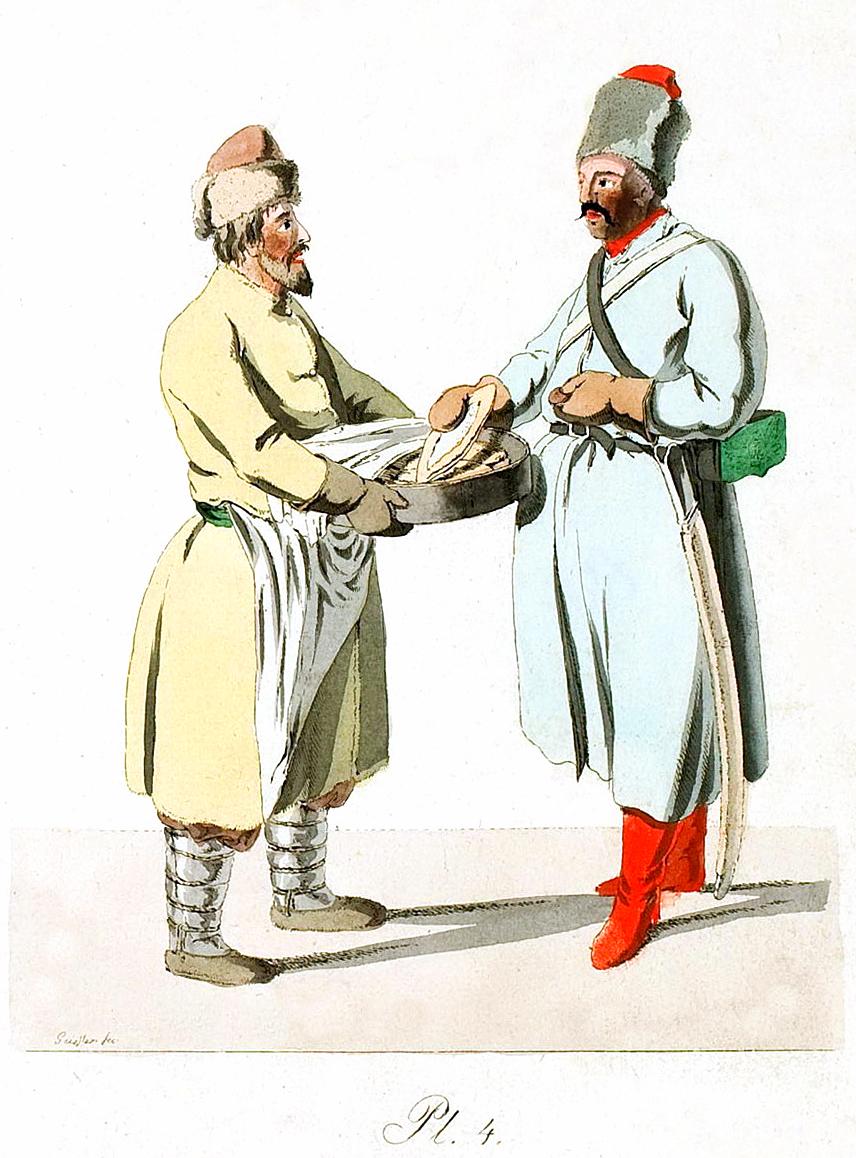 4. Wurstverkäufers und eines Kosaken / Продавец колбасы и казак