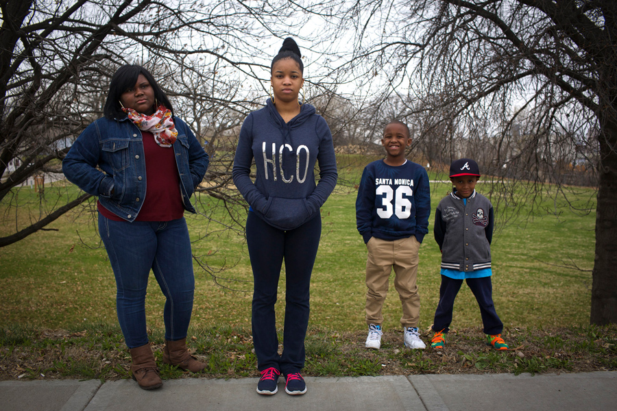 Chloe: Shot in the head as a 17-year-old by a stray bullet while talking with friends in Kansas City