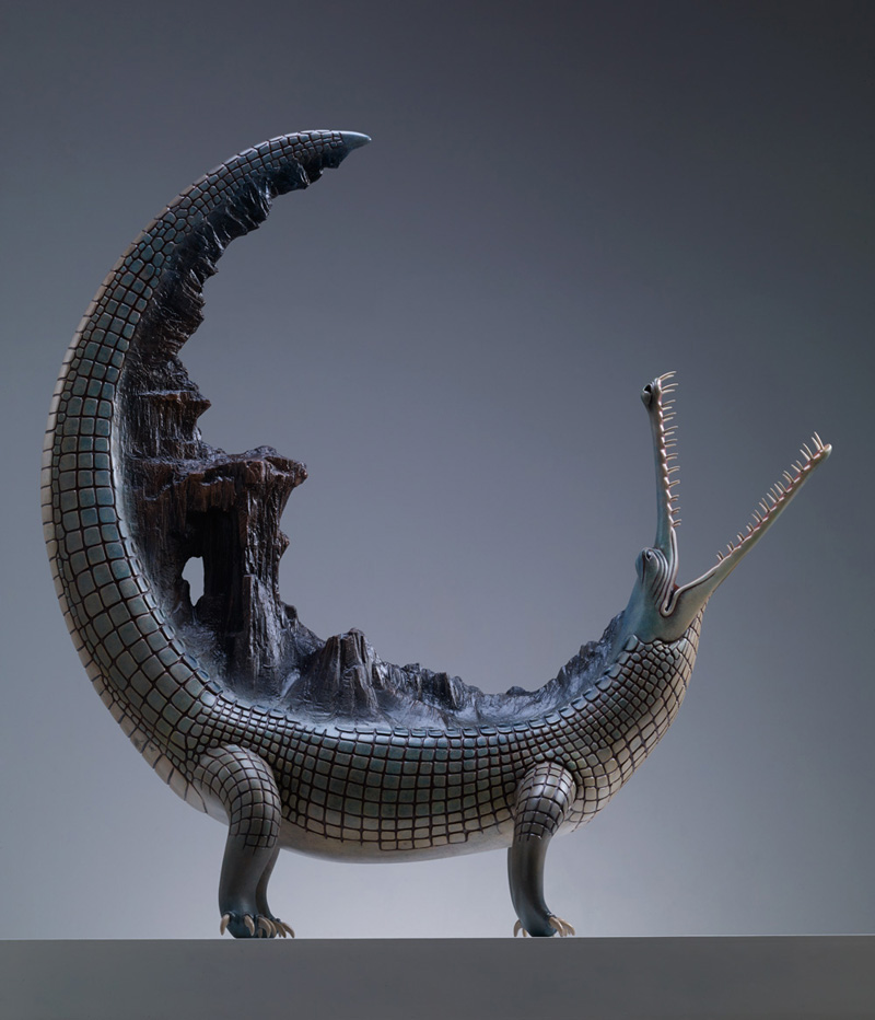 Surreal Beasts Carrying the Weight of the World by Wang Ruilin
