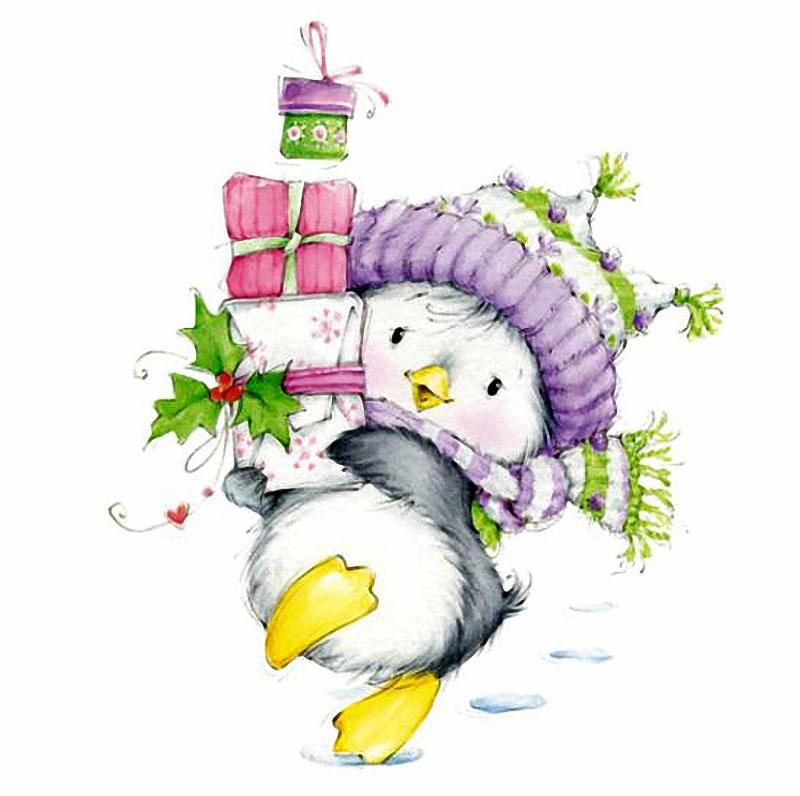 Новогодние открытки от марины федотовой, белыми